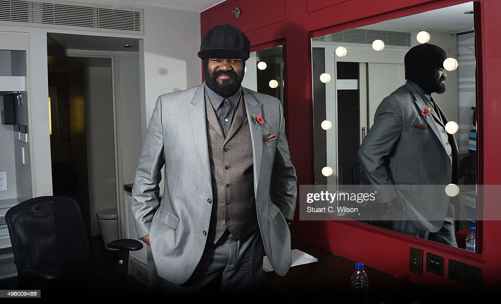 <a gi-track='captionPersonalityLinkClicked' href=/galleries/search?phrase=Gregory+Porter&family=editorial&specificpeople=7494861 ng-click='$event.stopPropagation()'>Gregory Porter</a> backstage after rehearsing for his performance at The Royal British Legion's Festival of Remembrance at the Royal Albert Hall on November 6, 2015 in London, United Kingdom. The festival of Remembrance will be televised tomorrow from 21.00-22.40 on BBC One & BBC One HD.
