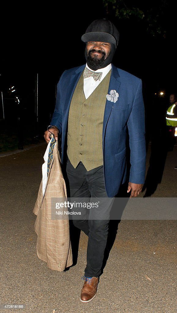<a gi-track='captionPersonalityLinkClicked' href=/galleries/search?phrase=Gregory+Porter&family=editorial&specificpeople=7494861 ng-click='$event.stopPropagation()'>Gregory Porter</a> is seen leaving the V Day Concert on May 09, 2015 in London, England.