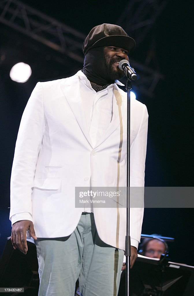 <a gi-track='captionPersonalityLinkClicked' href=/galleries/search?phrase=Gregory+Porter&family=editorial&specificpeople=7494861 ng-click='$event.stopPropagation()'>Gregory Porter</a> performs at Day 2 of the North Sea Jazz Festival at Ahoy on July 13, 2013 in Rotterdam, Netherlands.