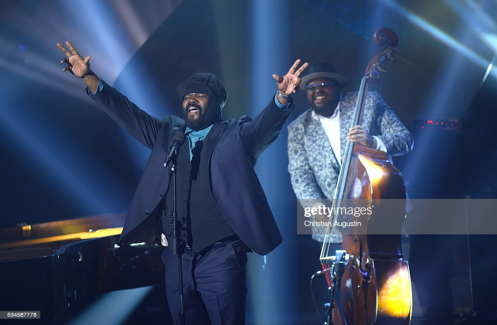 <a gi-track='captionPersonalityLinkClicked' href=/galleries/search?phrase=Gregory+Porter&family=editorial&specificpeople=7494861 ng-click='$event.stopPropagation()'>Gregory Porter</a> performs during the Echo Jazz 2016 show at Kampnagel on May 26, 2016 in Hamburg, Germany.