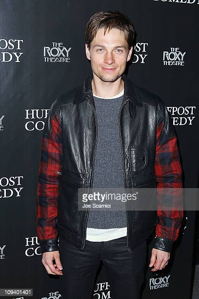 Gregory Smith arrives at Arianna Huffington And The Huffington Post Present Bill Maher And The Best Of Huffpost Comedy at The Roxy Theatre on...