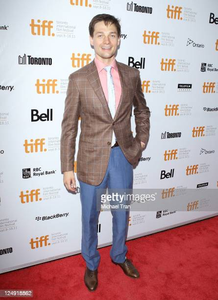 Gregory Smith arrives at the 'Peace Love Misunderstanding' premiere during the 2011 Toronto International Film Festival held at Roy Thomson Hall on...
