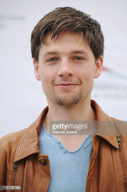 Gregory Smith poses during a photocall for the TV show 'Rookie Blue' during the 2011 Monte Carlo Television Festival held at the Grimaldi Forum on...
