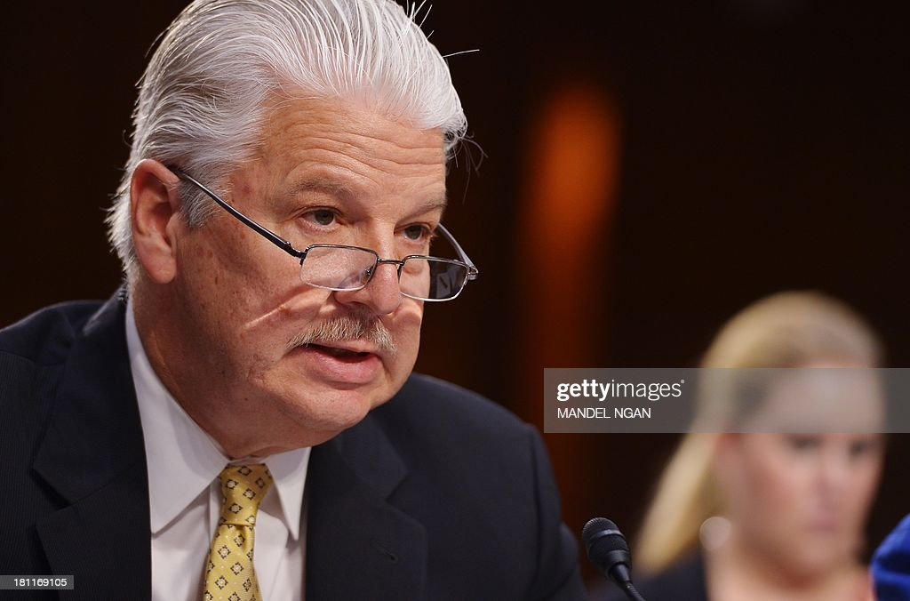 Gregory Starr testifies before the Senate Foreign Relations Committee on his nomination to be assistant secretary of State for diplomatic security in the Hart Senate Office Building on Capitol Hill in Washington, DC on September 19, 2013. AFP PHOTO/Mandel NG