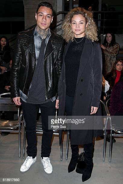 Gregory Van Der Wiel and Rose Bertram attend the Trapstar Puma show as part of the Paris Fashion Week Womenswear Fall/Winter 2016/2017 on March 5...