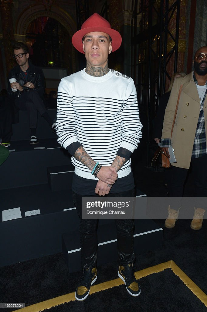 Gregory van der Wiel attends the Balmain show as part of the Paris Fashion Week Womenswear Fall/Winter 2015/2016 on March 5, 2015 in Paris, France.