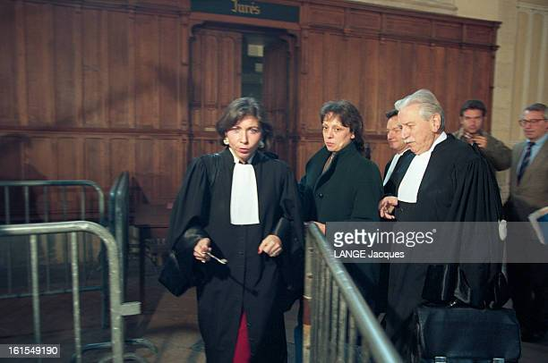 The Trial Of Jeanmarie Villemin For The Murder Of Bernard Laroche In Dijon MarieChristine CHASTANTMORAND Christine VILLEMIN et son avocat Me...