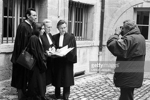 Gregory Villemin Case The Trial Of Jeanmarie Villemin For The Murder Of Bernard Laroche In Dijon Novembre 1993 à DIJON au palais de justice NEWTON...