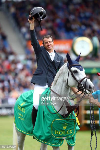Gregory WATHELET of Belgium riding COREE during the Rolex Grand Prix part of the Rolex Grand Slam of Show Jumping of the World Equestrian Festival on...