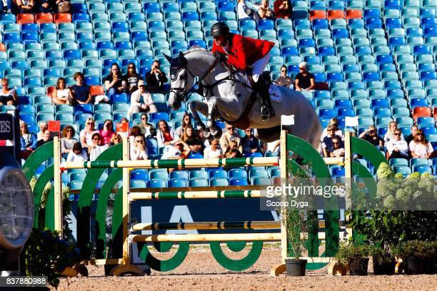 Gregory Wathelet riding Coree during Nations Cup Part 1 of the Equestrian European Championships on August 23 2017 in Gothenburg Sweden
