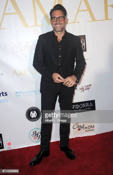 Gregory Zarian attends Amare Magazine Presents A Black Tie Event featuring cover model Mike O'Hearn held at Hangar 21 on November 14 2017 in...