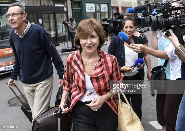 Gregory's parents' lawyers Thierry Moser and MarieChristine ChastantMorand arrive at the Court of Appeal in Dijon on August 4 2017 Murielle Bolle was...