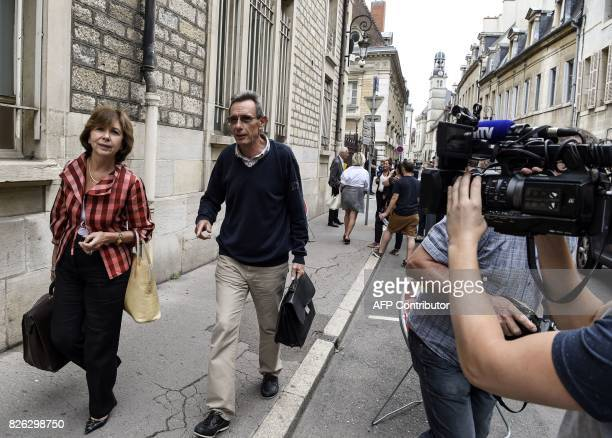 Gregory's parents' lawyers Thierry Moser and MarieChristine ChastantMorand leave the Court of Appeal in Dijon on August 4 2017 Murielle Bolle was...