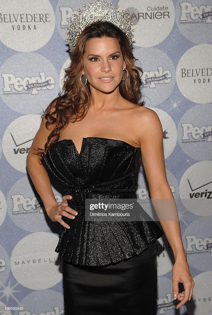 Greidys Gil, Nuestra Belleza Latina 2009, attends the People en Espanol Los 50 Mas Bellos party at Gustavino's on May 20, 2010 in New York City.