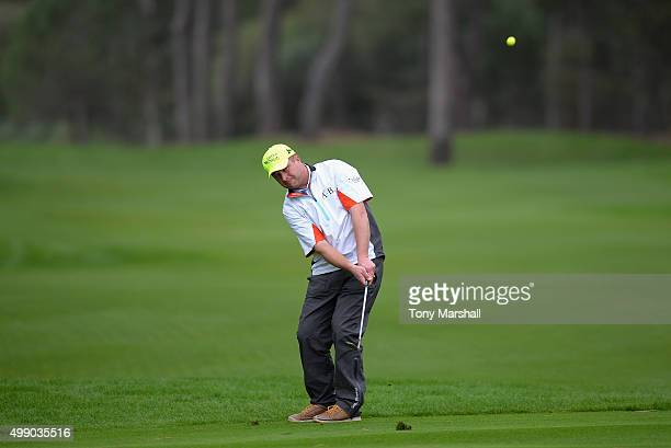 Greig Hutcheon of Paul Lawrie Golf Centre chips onto the 4th green during the second round of the PGA PlayOffs at Antalya Golf Club PGA Sultan Course...