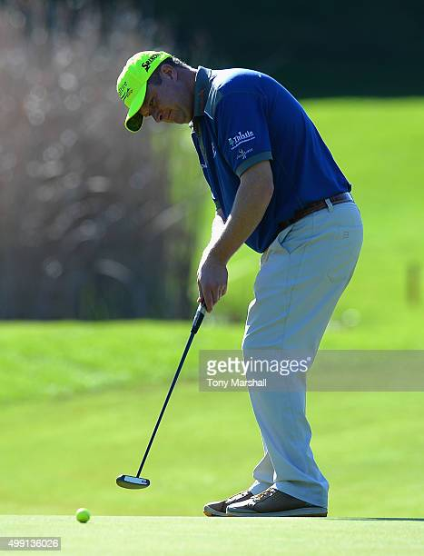 Greig Hutcheon of Paul Lawrie Golf Centre putts on the 11th green during the thrd round of the PGA Play Offs at Antalya Golf Club PGA Sultan Course...
