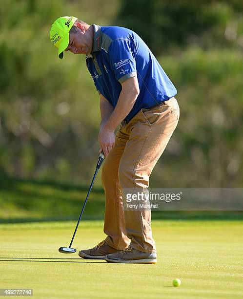Greig Hutcheon of Paul Lawrie Golf Centre putts on the 6th green during the fourth round of the PGA PlayOffs at Antalya Golf Club PGA Sultan Course...