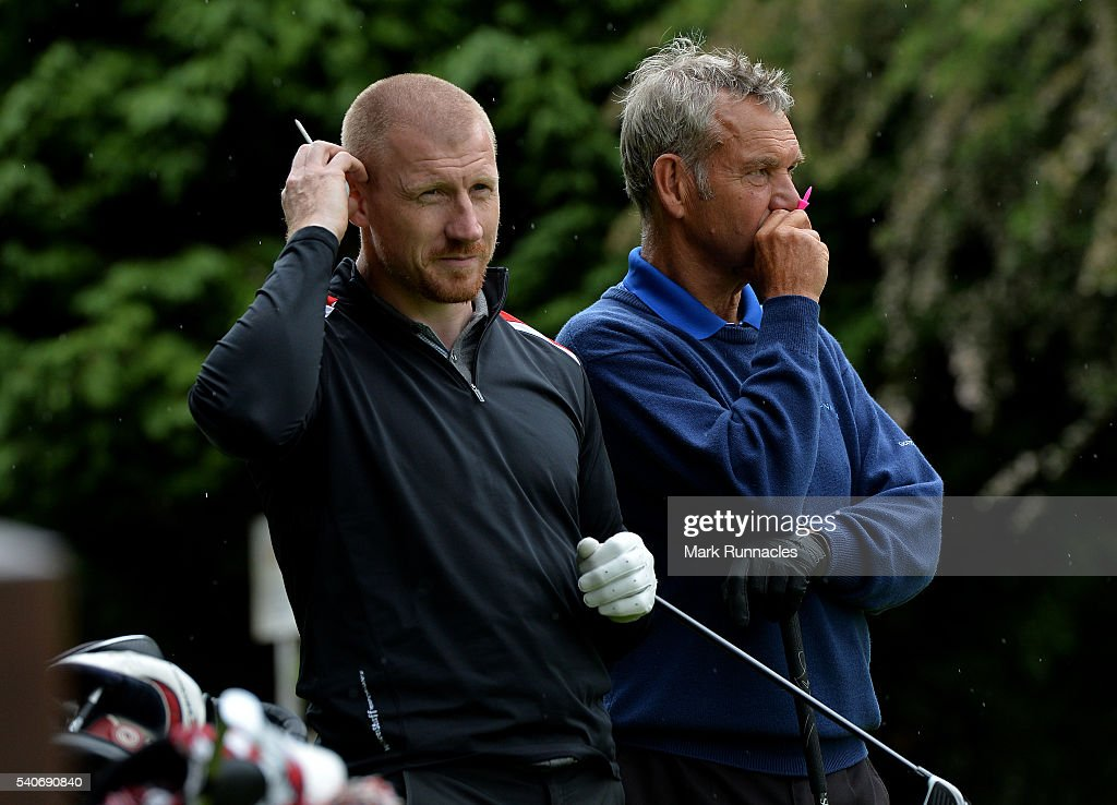 Greig McSporran and Ronnie Seivwright of Kinross Golf Courses at the 18th hole during the PGA National ProAm Qualifiers Scotland at Crieff Golf Club...