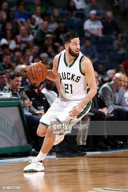 Greivis Vasquez of the Milwaukee Bucks handles the ball during the game against the Orlando Magic on April 1 2016 at the BMO Harris Bradley Center in...
