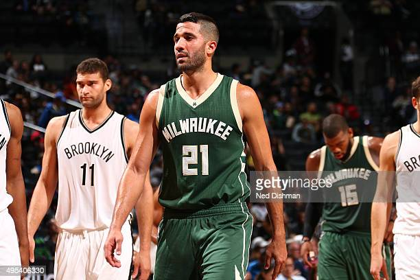 Greivis Vasquez of the Milwaukee Bucks is seen during the game against the Brooklyn Netson November 2 2015 at Barclays Center in Brooklyn New York...