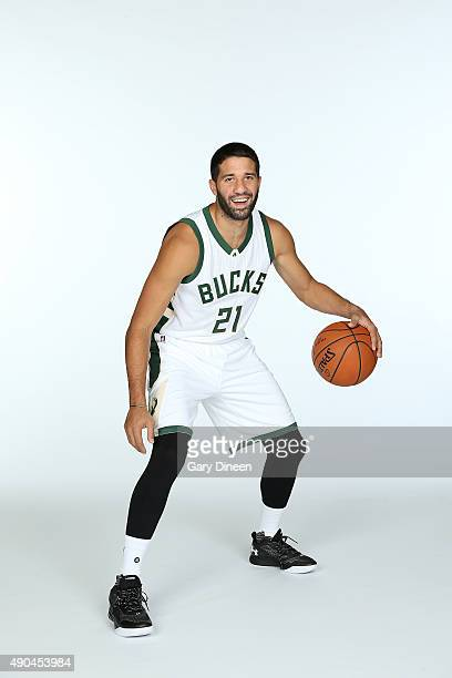 Greivis Vasquez of the Milwaukee Bucks poses for a portrait during Media Day on September 28 2015 at the Orthopaedic Hospital of Wisconsin Training...