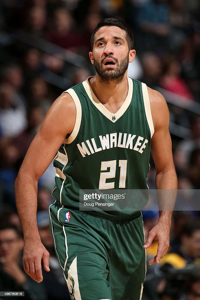 Greivis Vasquez of the Milwaukee Bucks takes the court against the Denver Nuggets at Pepsi Center on November 11 2015 in Denver Colorado The Nuggets...