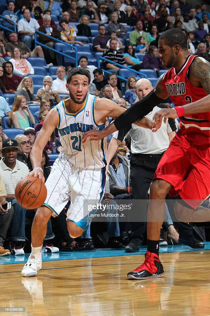 <a gi-track='captionPersonalityLinkClicked' href=/galleries/search?phrase=Greivis+Vasquez&family=editorial&specificpeople=4066977 ng-click='$event.stopPropagation()'>Greivis Vasquez</a> #21 of the New Orleans Hornets drives to the basket against the Portland Trail Blazers on March 10, 2013 at the New Orleans Arena in New Orleans, Louisiana.