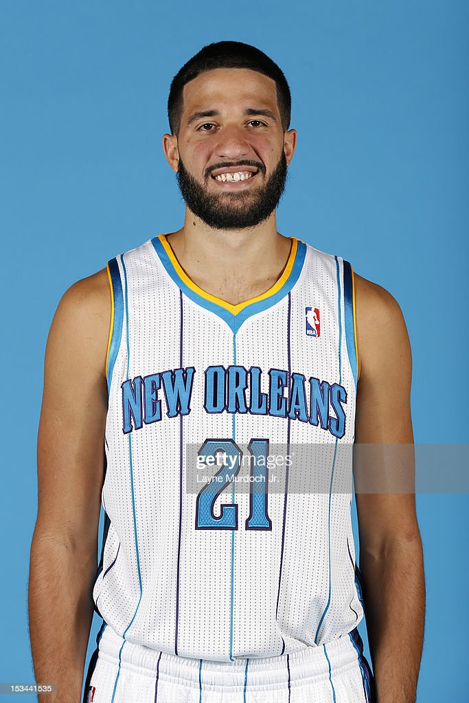 <a gi-track='captionPersonalityLinkClicked' href=/galleries/search?phrase=Greivis+Vasquez&family=editorial&specificpeople=4066977 ng-click='$event.stopPropagation()'>Greivis Vasquez</a> #21 of the New Orleans Hornets poses for a portrait for 2012 NBA Media Day on October 1, 2012 at the Alerio Center in Westwego, Louisiana.