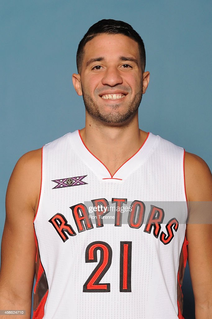 Greivis Vasquez of the Toronto Raptors poses for a photo during 2014 Raptors Media Day at the Air Canada Centre in Toronto Ontario Canada NOTE TO...