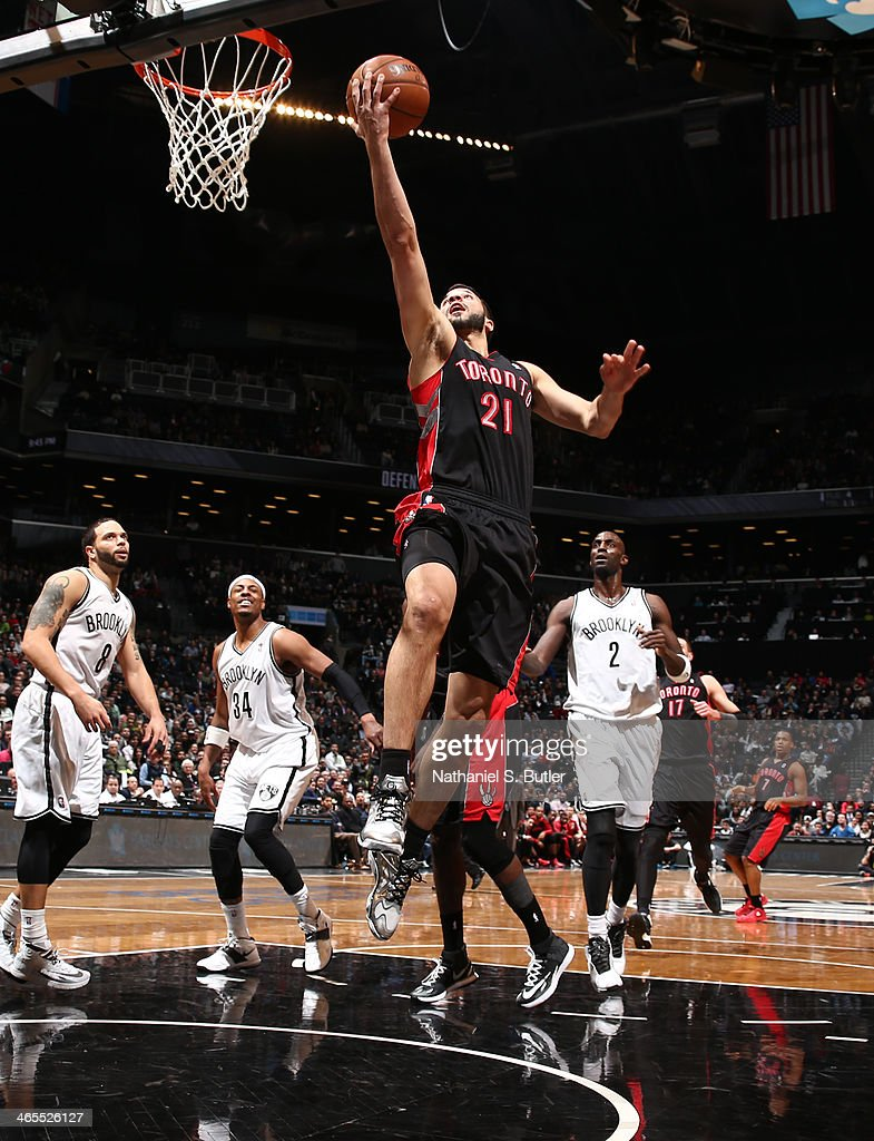 <a gi-track='captionPersonalityLinkClicked' href=/galleries/search?phrase=Greivis+Vasquez&family=editorial&specificpeople=4066977 ng-click='$event.stopPropagation()'>Greivis Vasquez</a> Shoots against the Brooklyn Nets during a game at Barclays Center in Brooklyn.