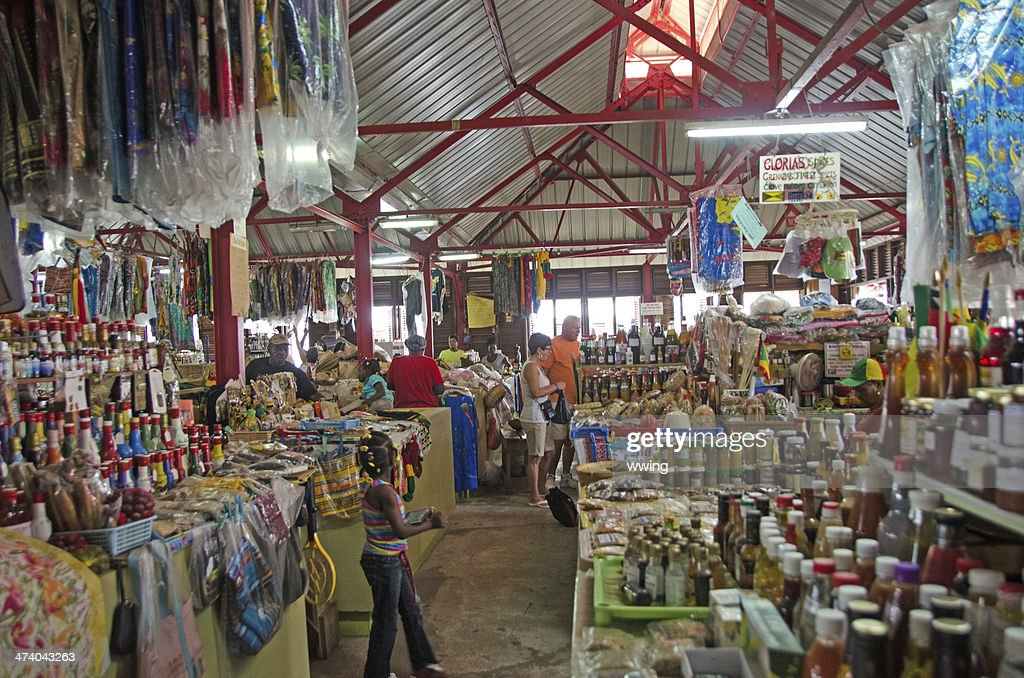 Grenada St. George's Market : Stock Photo