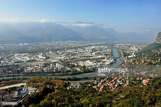 Grenoble science park is based in Grenoble peninsula at confluence of the Drac with the Isere river