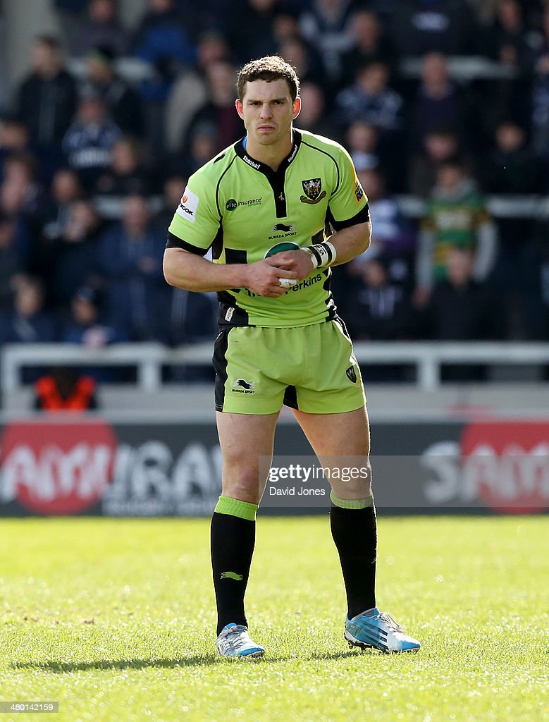 Greorge North of Northampton Saints during the Aviva Premiership match between Sale Sharks and Northampton Saints at A J Bell Stadium on March 22, 2014 in Salford, England