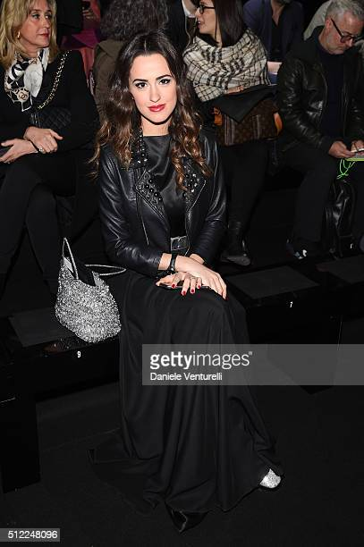 Gresy Daniilidis attends the Anteprima show during Milan Fashion Week Fall/Winter 2016/17 on February 25 2016 in Milan Italy