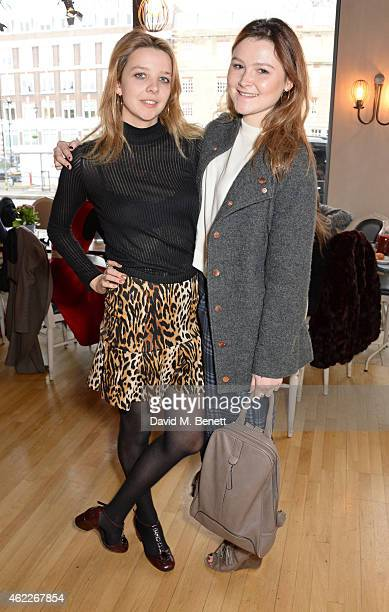 Greta Bellamacina and Amber Atherton attend 'Affirmation Mondays' hosted by Poppy Jamie and Greta Bellamacina at Aubaine on January 26 2015 in London...