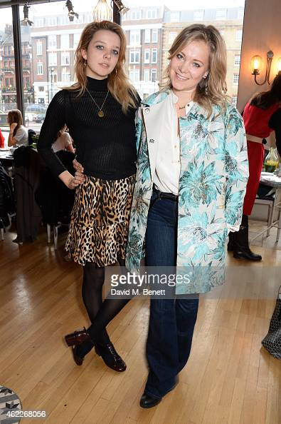 Greta Bellamacina and Poppy Jamie attend 'Affirmation Mondays' hosted by Poppy Jamie and Greta Bellamacina at Aubaine on January 26 2015 in London...