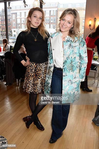 Greta Bellamacina and Poppy Jamie attend 'Affirmation Mondays' hosted by Poppy Jamie and Greta Bellamacina at Aubaine on January 26 2015 in London...