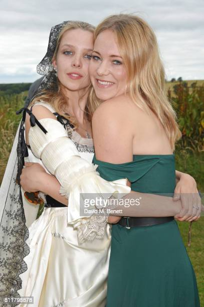 Greta Bellamacina and Poppy Jamie attend Greta Bellamacina and Robert Montgomery's wedding on July 8 2017 in Exeter England