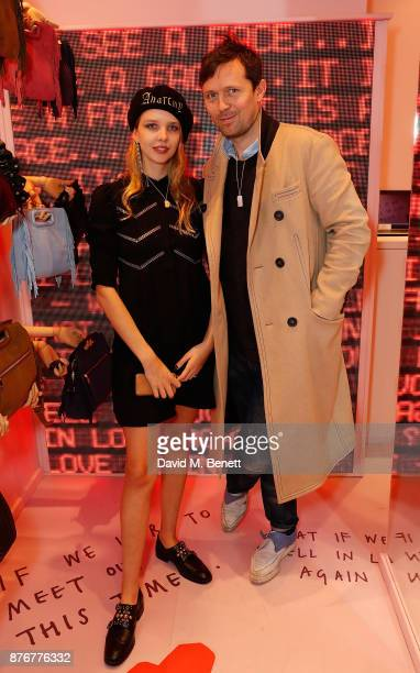 Greta Bellamacina and Rob Montgomery attend the Maje PopUp store launch with Women for Women International on November 20 2017 in London England
