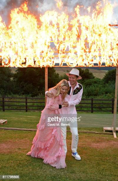 Greta Bellamacina and Robert Montgomery attend their wedding on July 8 2017 in Exeter England