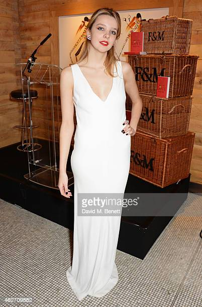 Greta Bellamacina attends the launch of 'A Collection Of Contemporary British Love Poetry' at Fortnum Mason on February 3 2015 in London England