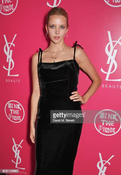 Greta Bellamacina attends the #YSLBeautyClub party in collaboration with Sink The Pink at The Curtain on August 3 2017 in London England