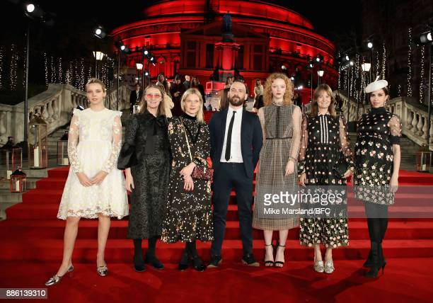 Greta Bellamacina designer Orla Kiely Poppy Kain guest Lily Nova Leith Clark and Kata Hicks attend The Fashion Awards 2017 in partnership with...