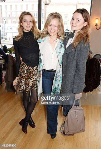 Greta Bellamacina Poppy Jamie and Amber Atherton attend 'Affirmation Mondays' hosted by Poppy Jamie and Greta Bellamacina at Aubaine on January 26...