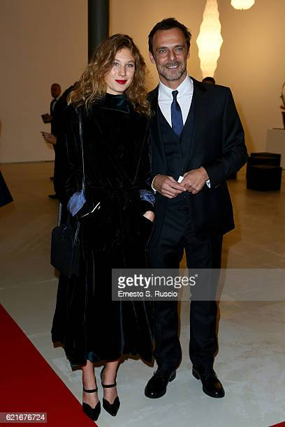 Greta Carandini and Alessandro Preziosi attend a welcome cocktail and 'The Japanese House' exhibition preview for the MAXXI Acquisition Gala Dinner...