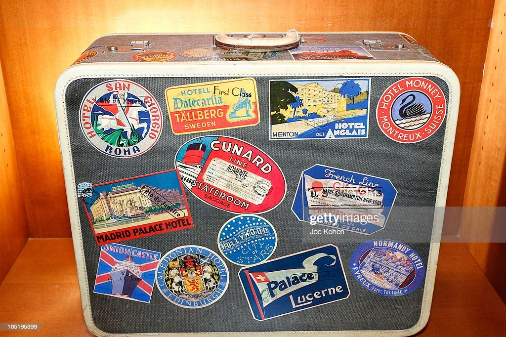 A Greta Garbo suitcase seen on display at Julien's Auctions Gallery on April 1, 2013 in Beverly Hills, California.