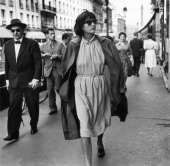 Greta Garbo walking through the streets of Paris on July 30 1958 in Paris France Then aged 53 the star gave up the movies in 1941