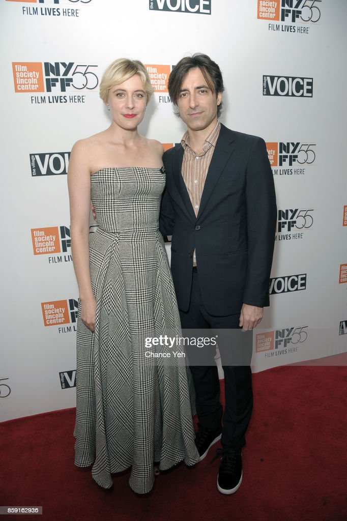 Greta Gerwig and Noah Baumbach attend 'Lady Bird' screening during 55th New York Film Festival at Alice Tully Hall on October 8, 2017 in New York City.