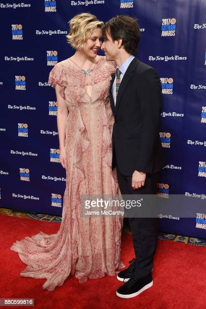 Greta Gerwig and Noah Baumbach attend the 2017 IFP Gotham Awards at Cipriani Wall Street on November 27 2017 in New York City