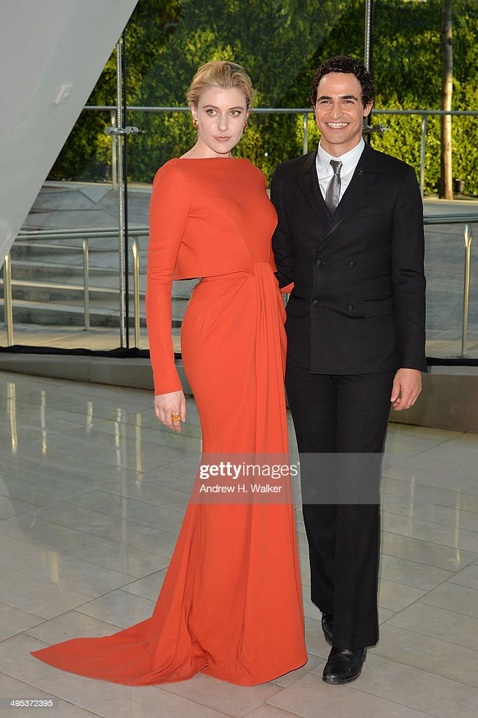 Greta Gerwig and Zac Posen attend the 2014 CFDA fashion awards at Alice Tully Hall, Lincoln Center on June 2, 2014 in New York City.